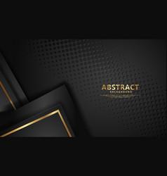 Luxury black overlap layers background vector