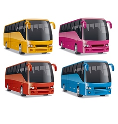 Modern comfortable city buses vector