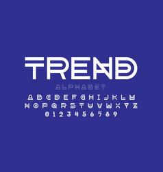 modern font design trendy alphabet letters and vector image