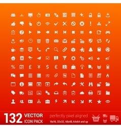 Modern user interface flat mono icons pixels vector image
