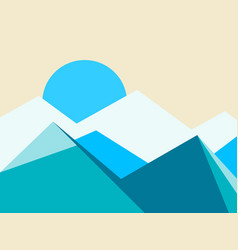 mountain peaks landscape flat style vector image