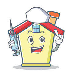 Nurse house character cartoon style vector