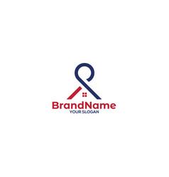 P home logo design vector