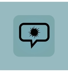 Pale blue starburst message icon vector