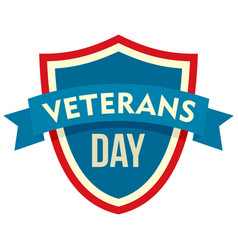 parade veterans day logo flat style vector image