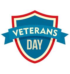 Parade veterans day logo flat style vector