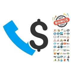 Payphone Icon With 2017 Year Bonus Pictograms vector