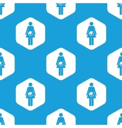 Pregnancy hexagon pattern vector image