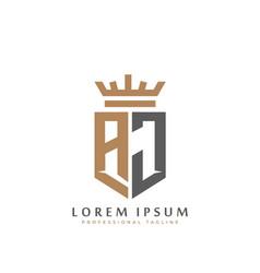 Premium aj monogram two letters aj elegant vector