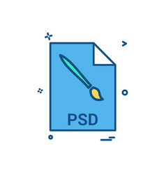 Psd file file extension file format icon design vector