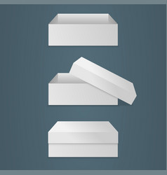 realistic square white box vector image