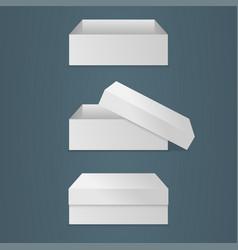 realistic square white box vector image
