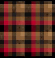 red brown tartan plaid pattern vector image