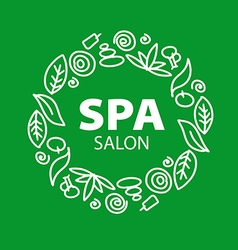 Round logo for spa salon vector