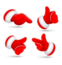 Santas hands vector image