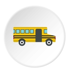 School bus icon flat style vector image