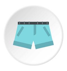 Shorts icon circle vector