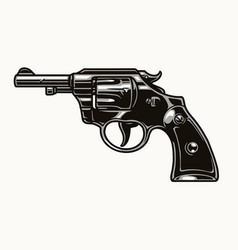 Six shooter revolver vintage colorful concept vector
