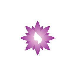 Spa aesthetic woman logo icon design template vector