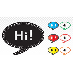Speech art line icons for chat applications vector