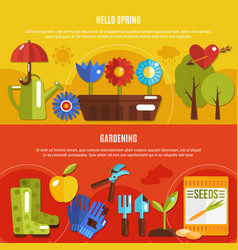 spring banners set vector image