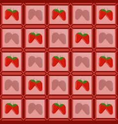 Strawberries in a photo frame laid out in the form vector