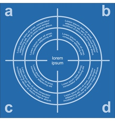 Target infographic vector