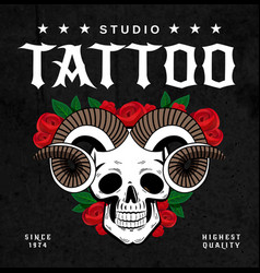 tattoo studio design poster vector image