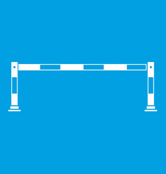 Traffic barrier icon white vector