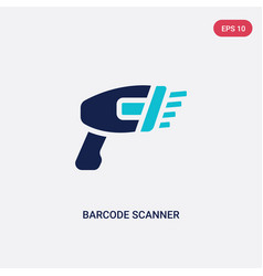 Two color barcode scanner icon from e-commerce vector