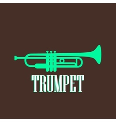 vintage with trumpet vector image