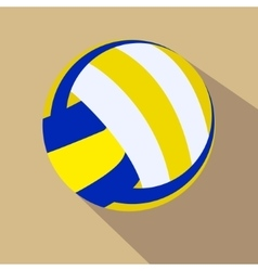 Volleyball Single color flat icon vector