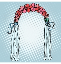 Wedding gate for betrothal vector