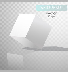 White cube with shadows vector
