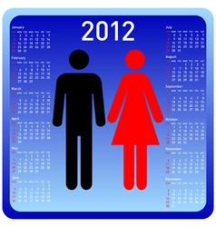 woman and man calendar vector image