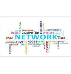 word cloud network vector image