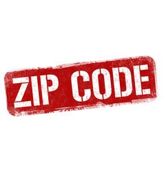 zip code grunge rubber stamp vector image