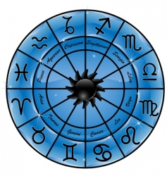 zodiac circle vector image