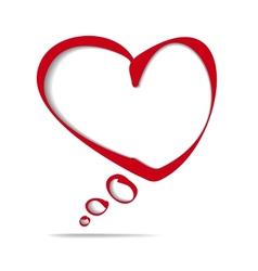 heart frame bubble cartoon vector image