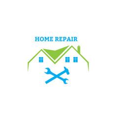 home repair emblem vector image