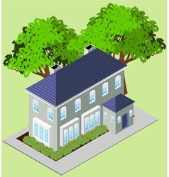 isometric mansion vector image vector image
