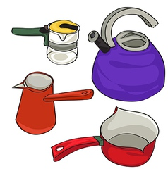 kettles vector image