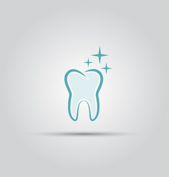 shining tooth isolated logo vector image vector image