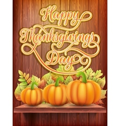 Thanksgiving day Card with Pumpkin EPS 10 vector image