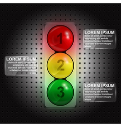 traffic lights infographic vector image vector image