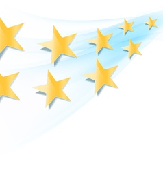 yellow stars flowing vector image