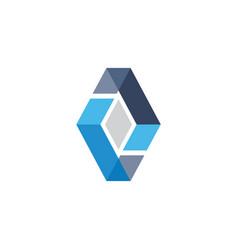 Abstract diamond business logo vector