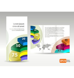 brochure design template spiral diagram element vector image vector image
