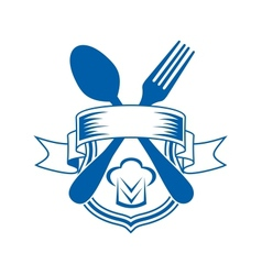 Restaurant or caterers emblem vector image