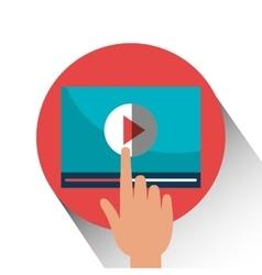 Share internet entertainment vector image